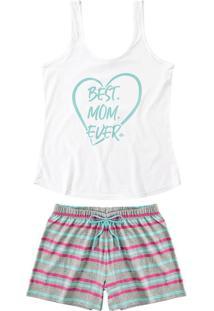 Pijama Sustentável Best Mom Ever Feminino Malwee Liberta