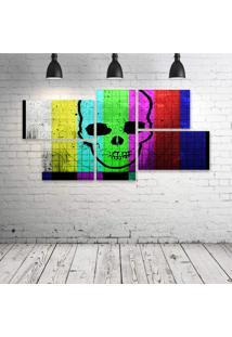 Quadro Decorativo - Caveira - Composto De 5 Quadros - Multicolorido - Dafiti