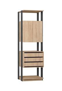 Guarda Roupa Closet Clothes 1006 2 Portas Carvalho/Espresso - Be Mobil