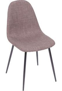 Cadeira Charla- Marrom & Preta- 75,5X45X40Cm- Oror Design