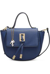 Bolsa Macadamia Pequena Transversal - Feminino-Azul