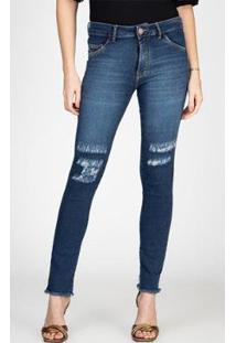 Calça Jeans Skinny Thiffany Rasgos Joelho Bloom Feminina - Feminino