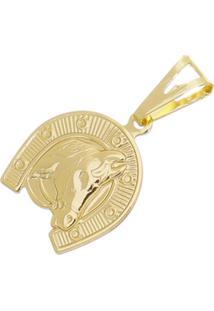 Pingente Cara De Cavalo Tudo Joias Folheado A Ouro 18K Dourada