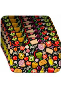 Jogo Americano - Love Decor Premium Pizza Kit Com 6 Peã§As - Multicolorido - Dafiti