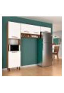 Cozinha Compacta Bari 5 Pt Amêndoa E Branco