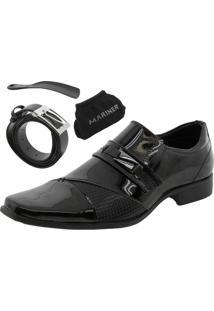 Sapato Masculino Social Preto Mariner - 73095