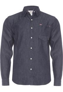 Camisa Masculina Mumford River Índigo - Azul