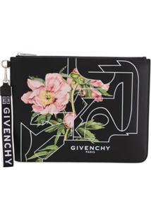 Givenchy Clutch Com Estampa - Preto