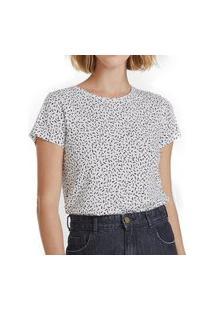Camiseta Hering Feminina 4E0V Tee Off-White