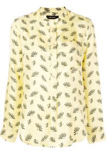 Isabel Marant Blusa De Seda Estampada - Amarelo