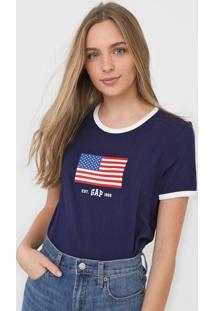 Blusa Gap Eua Azul-Marinho