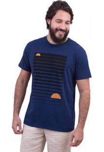 Camiseta Limits Soft Sunset Lines Rj Masculina - Masculino-Marinho
