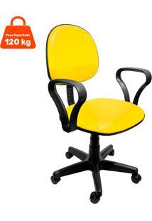 Cadeira De Escritã³Rio Secretã¡Ria Mazikeen Ajustã¡Vel Amarela