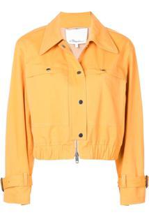 3.1 Phillip Lim Jaqueta Cropped Com Abotoamento - Amarelo