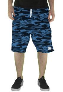 Bermuda Skate Eterno Camuflada Azul Elite