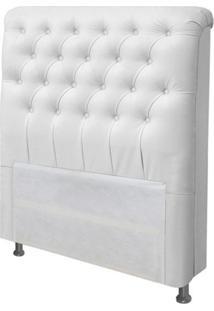 Cabeceira Para Cama Box Solteiro 100 Cm Paris Corino Branco - Js Móveis