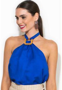 Blusa Linho Azul