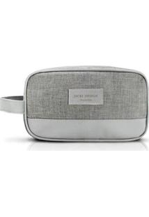 Necessaire Jacki Design Com Alça Lateral Be You - Unissex-Cinza Claro