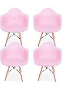 Kit 04 Cadeiras Decorativas Lyam Decor Melbourne Rosa. - Tricae