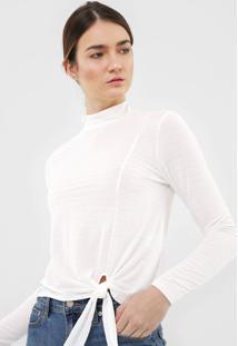 Blusa Dzarm Amarração Off-White - Kanui