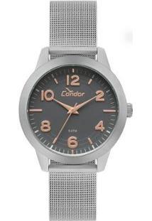 Relógio Condor Feminino Bracelete - Co2036Kup/3C Co2036Kup/3C - Feminino-Prata