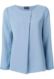 Emporio Armani Blusa Poly - Azul