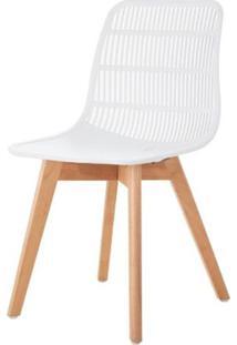 Cadeira Angelita Branca Pes Madeira - 50050 - Sun House