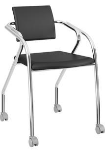 Cadeira 1713 Caixa Com 1 Napa Móveis Carraro Preto