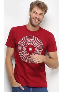 Camiseta Industrie Círculo Masculina - Masculino-Bordô
