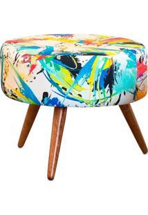 Puff Decorativo Sofia Redondo Estampado Color D18 - D'Rossi