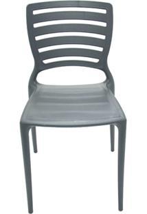 Cadeira Com Encosto Vazado Sofia Grafite