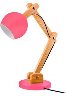 Luminária De Mesa Para 1 Lâmpada Bivolt Bola Raspberry