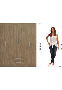 Guarda Roupa Casal Com Espelho 6 Portas 2 Gavetas Turquesa Decibal Móveis Wood