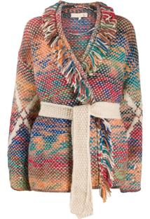 Vanessa Bruno Fringed Cardigan - Neutro