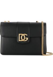 Dolce & Gabbana Bolsa Tiracolo Com Padronagem Dg - Preto