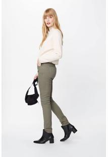 Calça Sarja Skinny Color Verde Militar - 34