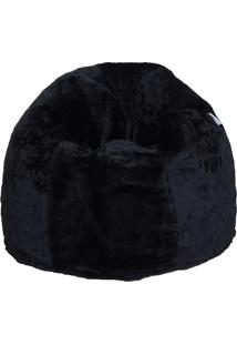 Puff Soft Pelúcia - Stay Puff - Preto