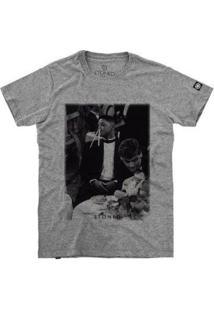 Camiseta Stoned Will Smith Masculina - Masculino-Cinza