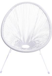 Cadeira Acapulco- Branca- 85X74X48Cm- Or Designor Design