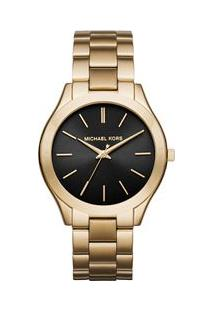 Relógio Michael Kors Feminino Slim Runway Dourado