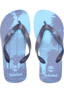 Chinelo Timberland Estampado Azul