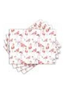 Jogo Americano - Flamingos Com 4 Peças - 648Jo