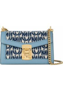 Miu Miu Bolsa Tiracolo Confidential - Azul