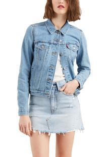 Jaqueta Levis Feminina Jeans Trucker Original Azul Médio Azul