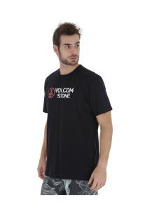 Camiseta Volcom Dagwood - Masculina - Preto