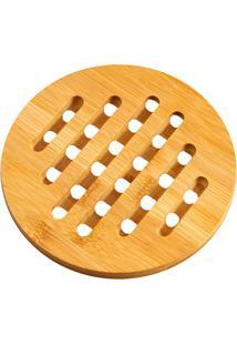 Descanso De Panela Redondo Basic Bamboo 15Cm Bege