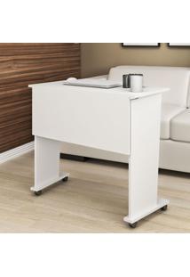 Mesa Dobrável Com Rodízio Me4117 Branco -Tecno Mobili