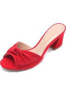 Tamanco Dafiti Shoes Laço Vermelho