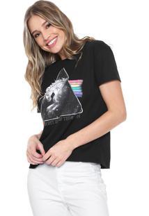Camiseta Fiveblu Unicórnio Preta