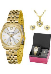 Kit Relógio Lince Feminino Lrgh073Lku69S2Kx